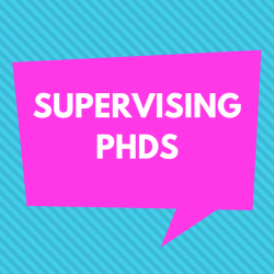 A community blog, on doctoral supervision relationships and pedagogies